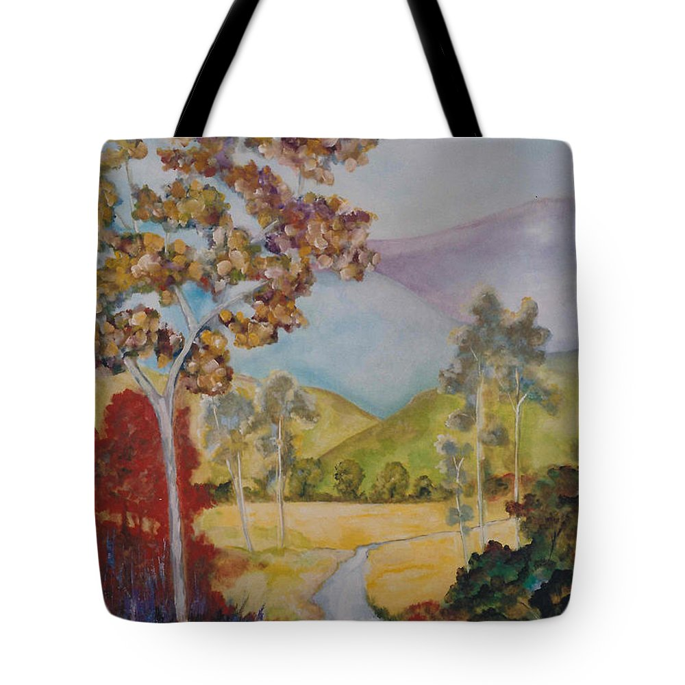Valley Tote Bag featuring the painting The Valley by Lord Frederick Lyle Morris - Disabled Veteran