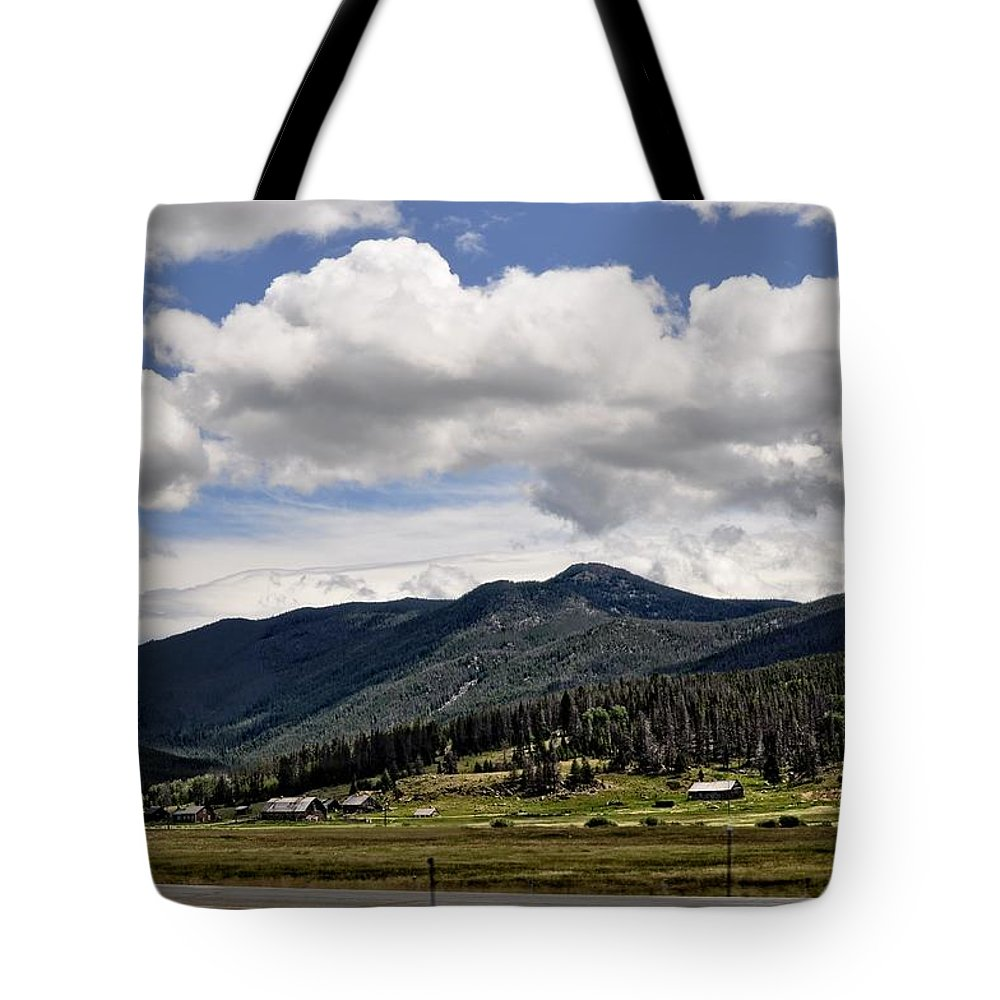 Barn Tote Bag featuring the photograph The Valley by Image Takers Photography LLC
