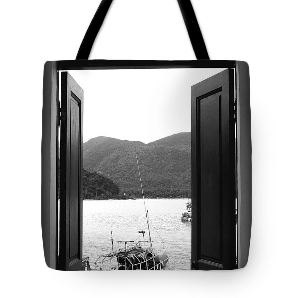 Door Tote Bag featuring the photograph The View by Andrea Anderegg