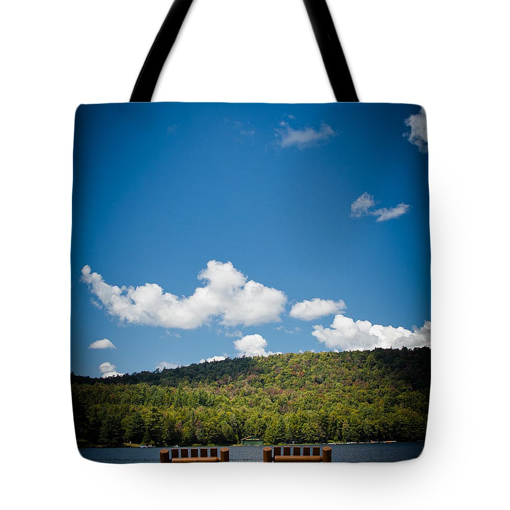 Big Moose Lake Tote Bag featuring the photograph The View From Big Moose Inn by David Patterson