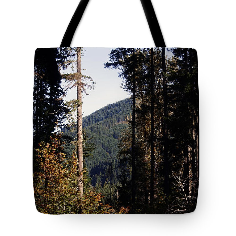 Cispus Learning Center Tote Bag featuring the photograph The View From Cispus by Edward Hawkins II