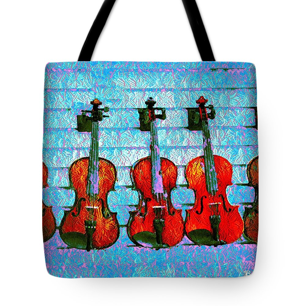 The Tote Bag featuring the photograph The Violin Store by Bill Cannon