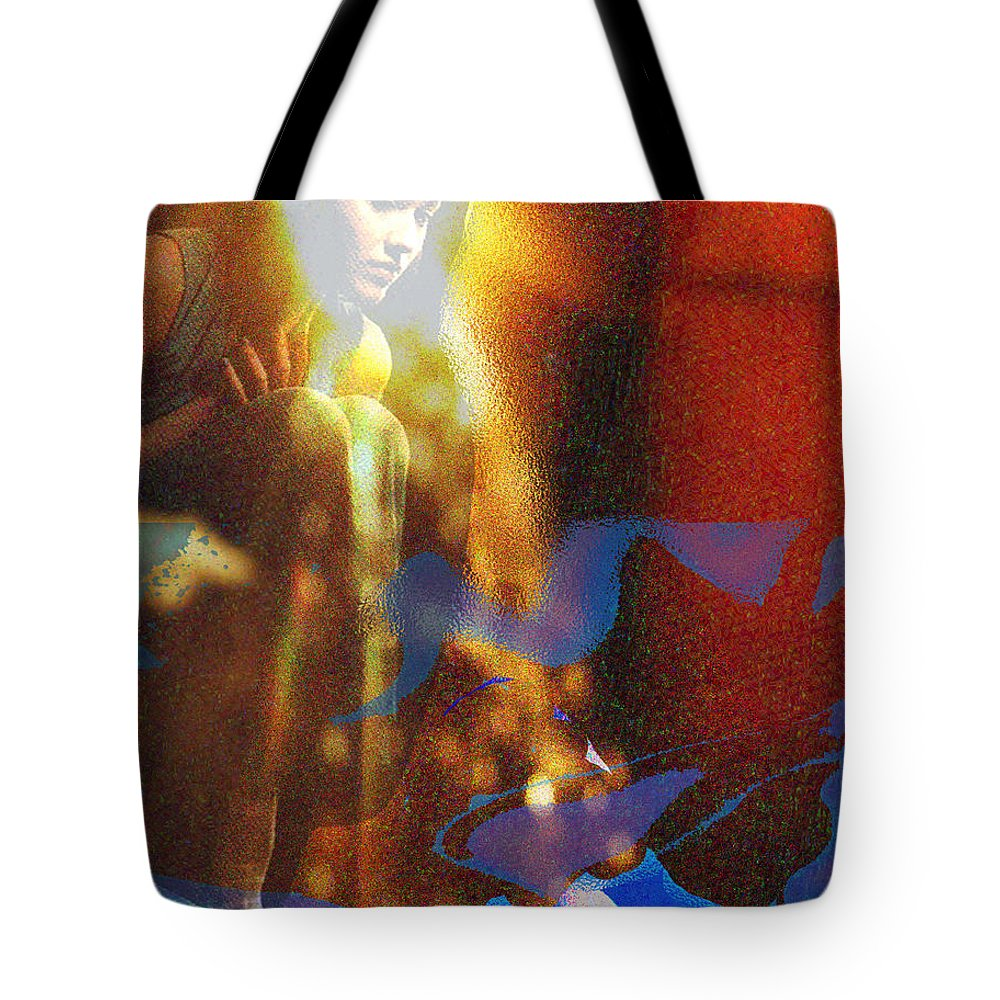 Vision Tote Bag featuring the digital art The Vision by Seth Weaver