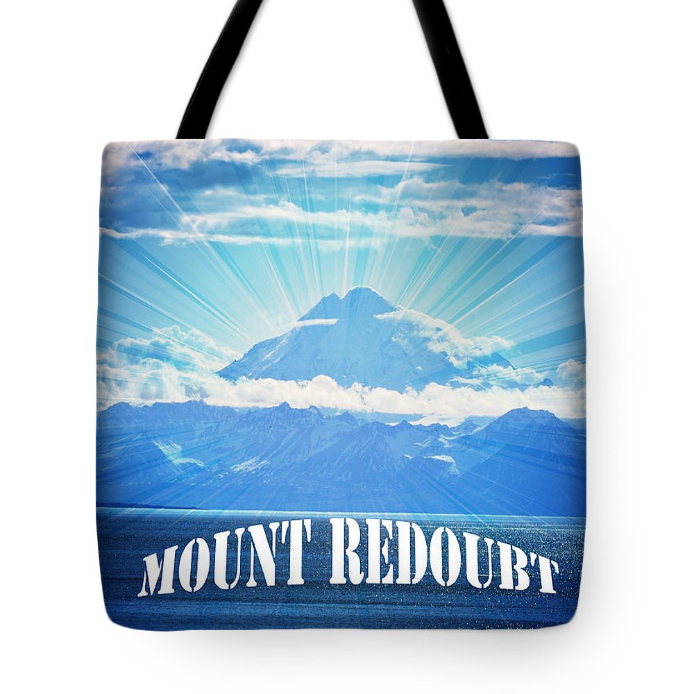 Mount Redoubt Tote Bag featuring the photograph The Volcano Mt Redoubt by Debra Miller