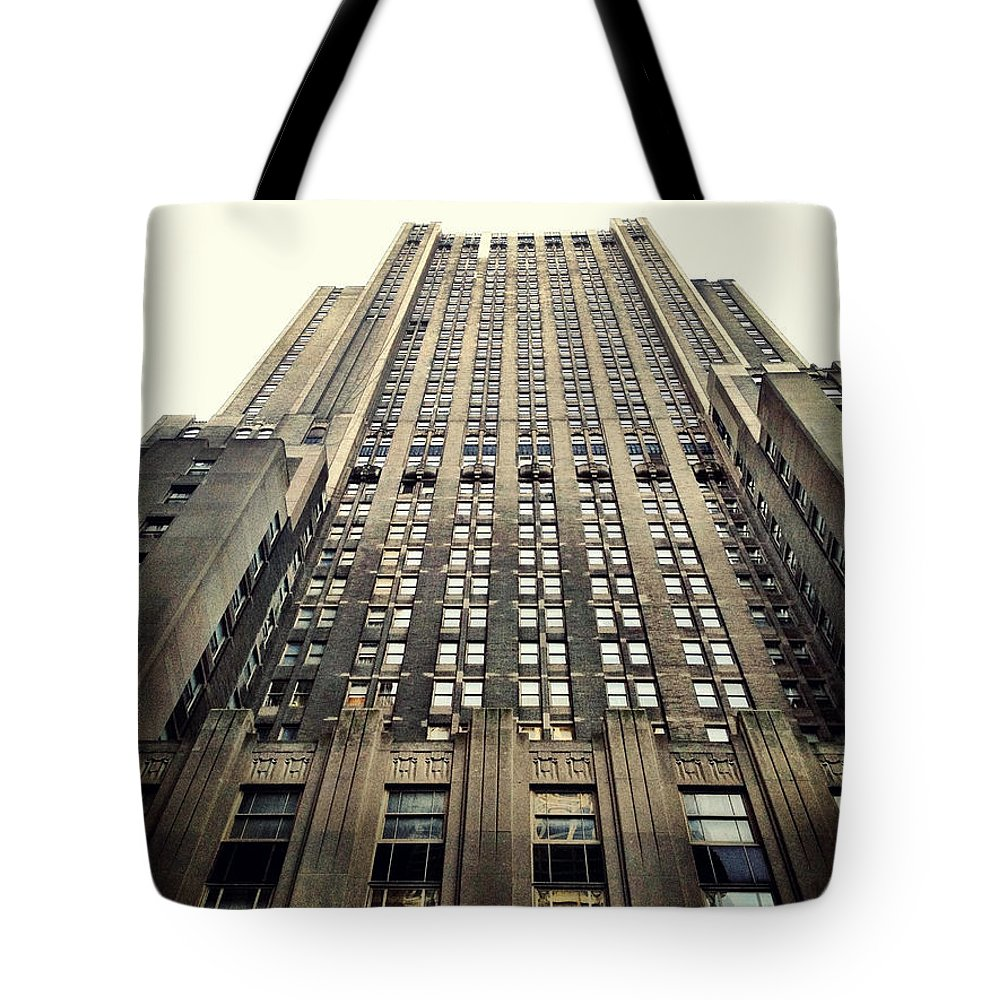 Art Deco Tote Bag featuring the photograph The Waldorf by Natasha Marco
