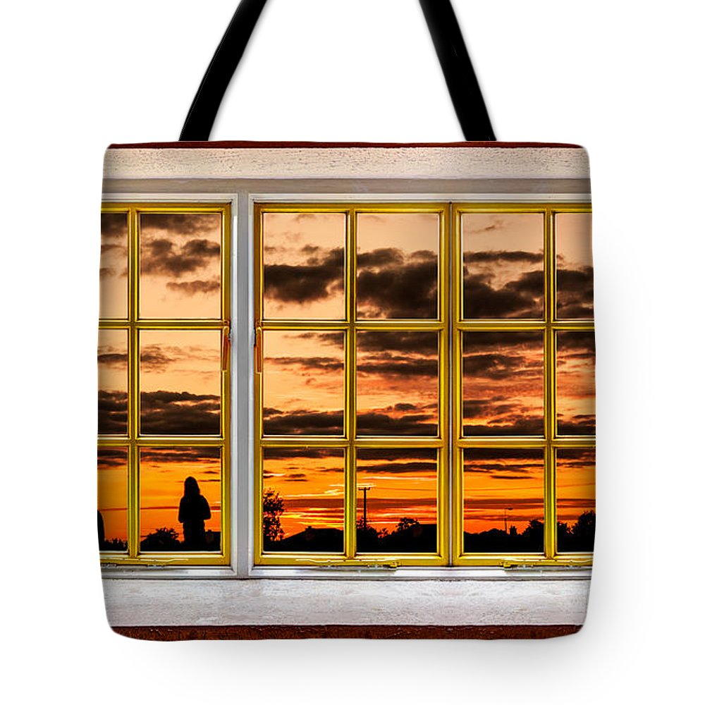 Architecture Tote Bag featuring the photograph The Walk Outside by Semmick Photo