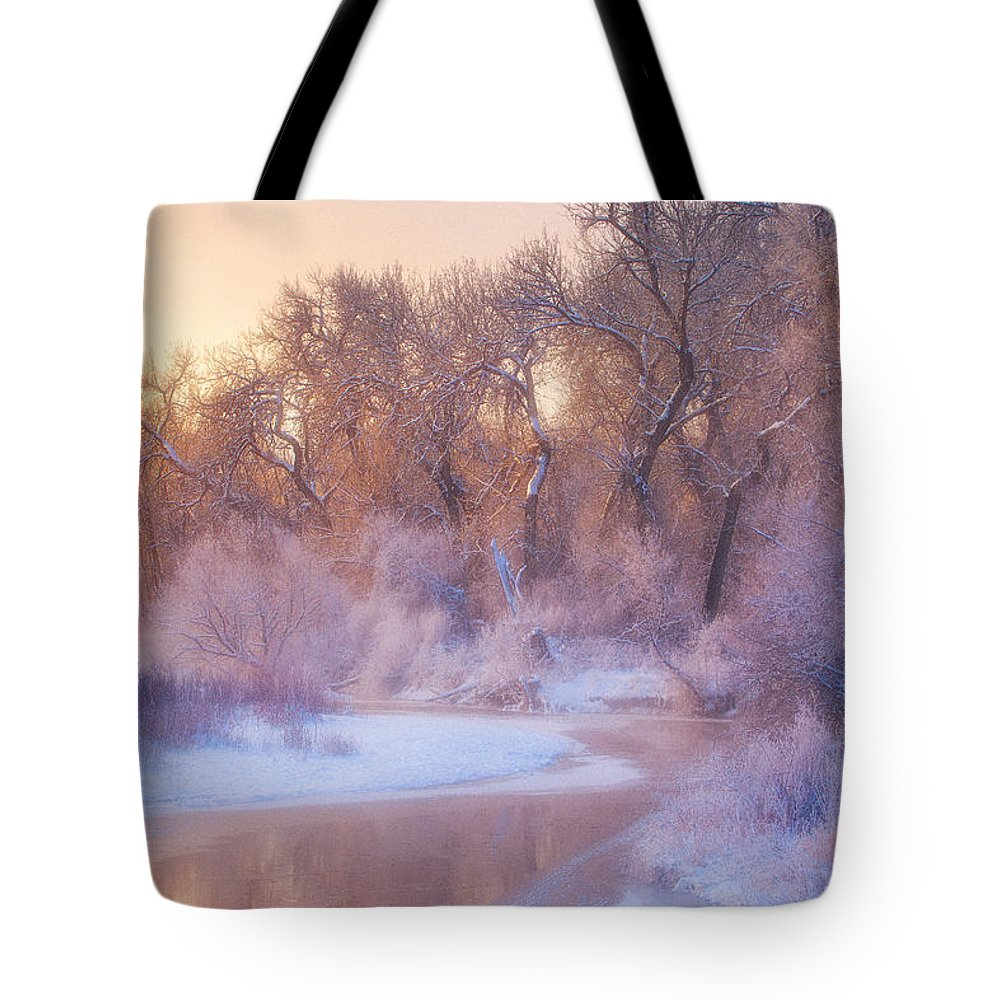 Ice Tote Bag featuring the photograph The Warmth Of Winter by Darren White