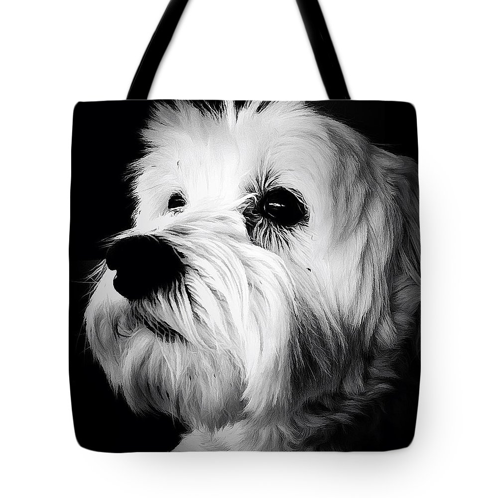 Dog Tote Bag featuring the photograph The Watcher by Natasha Marco