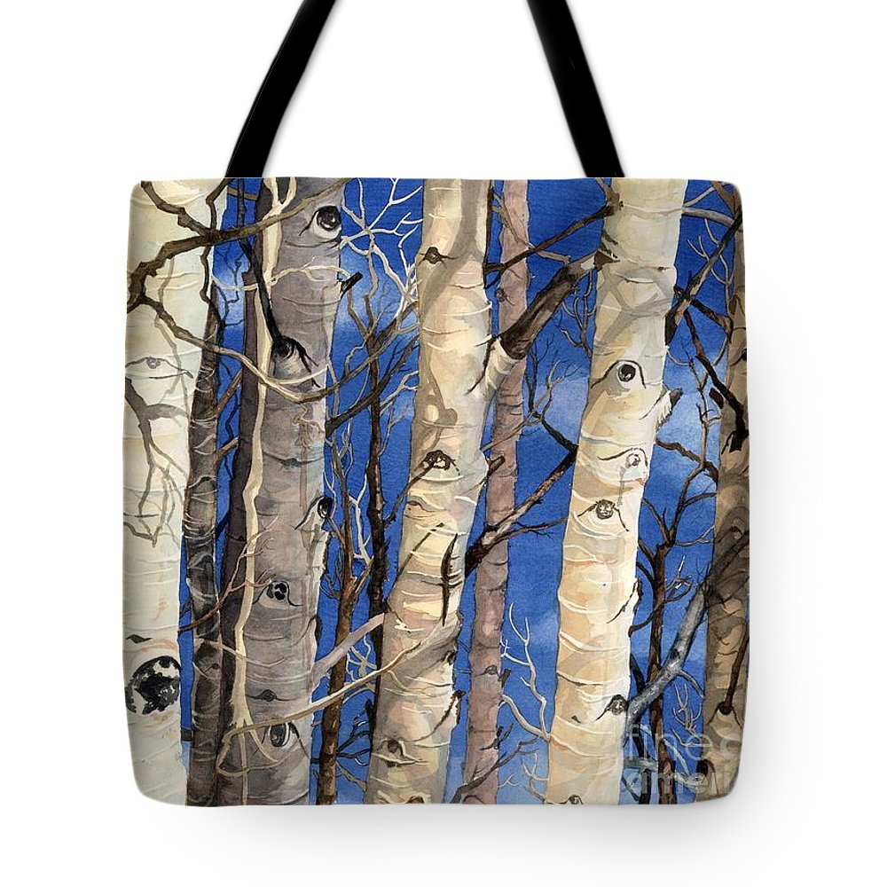 Water Color Paintings Tote Bag featuring the painting The Watchers by Barbara Jewell