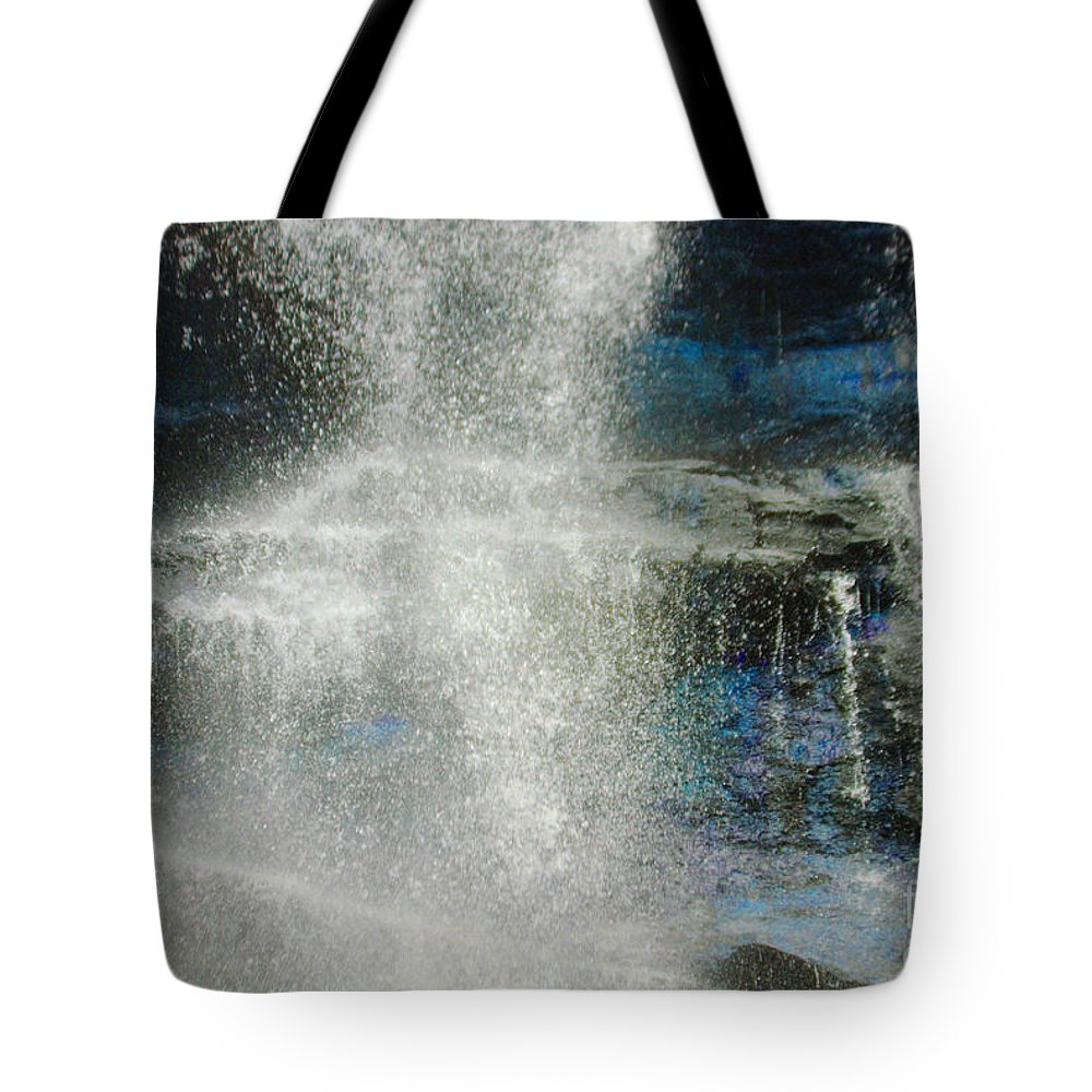 Amicalola Tote Bag featuring the photograph The Water Blue by Jost Houk