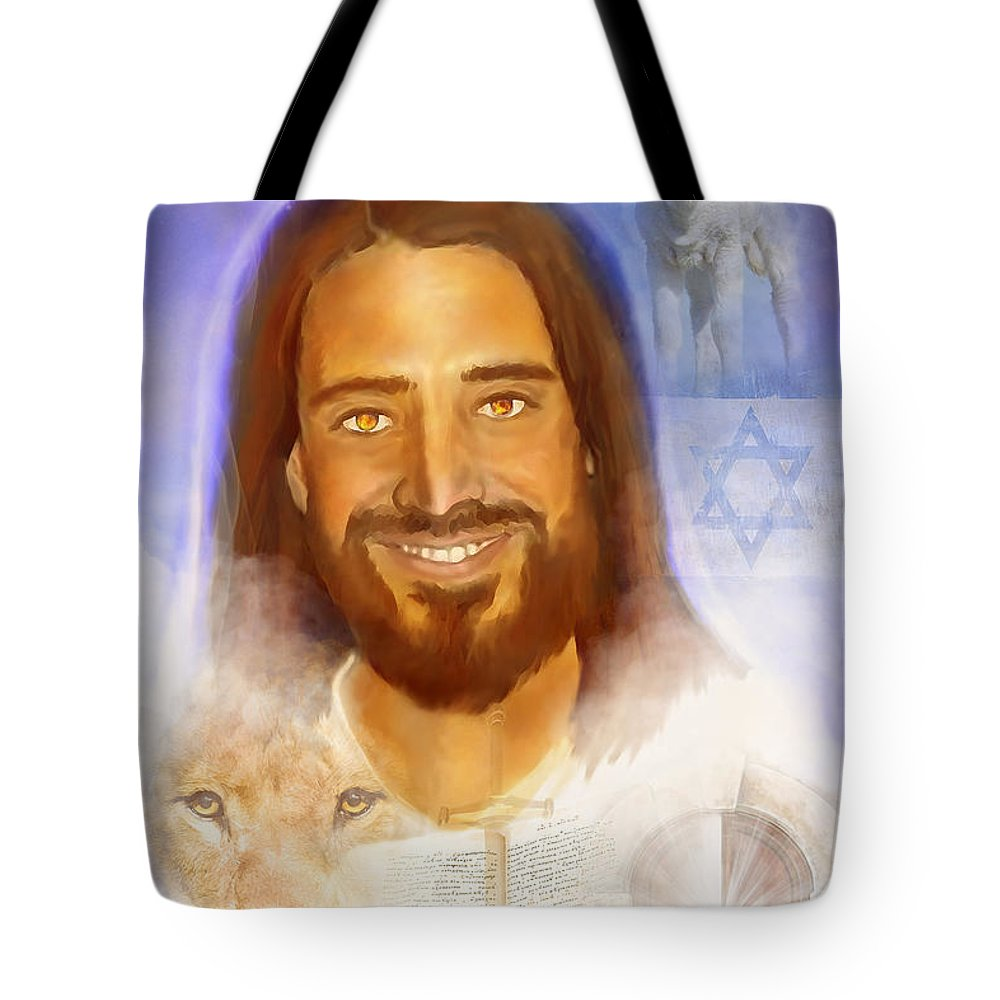 The Way The Truth The Life Tote Bag featuring the painting The Way The Truth The Life by Jennifer Page