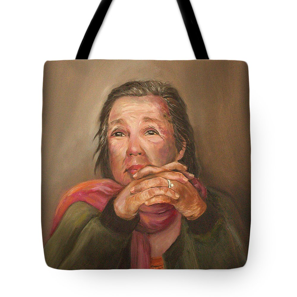 Wedding Ring Tote Bag featuring the painting The Wedding Ring by Jun Jamosmos