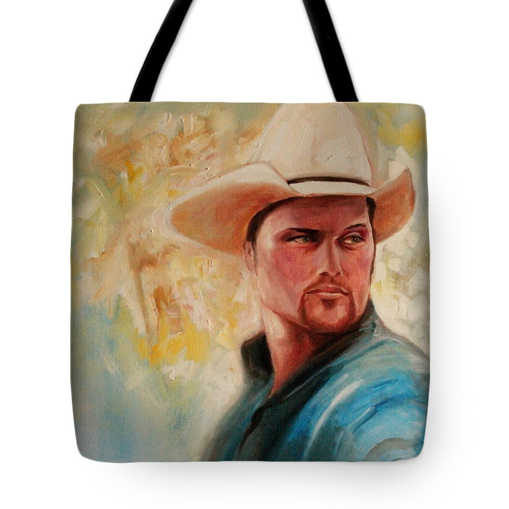 White Hat Tote Bag featuring the painting The White Hat by Jun Jamosmos