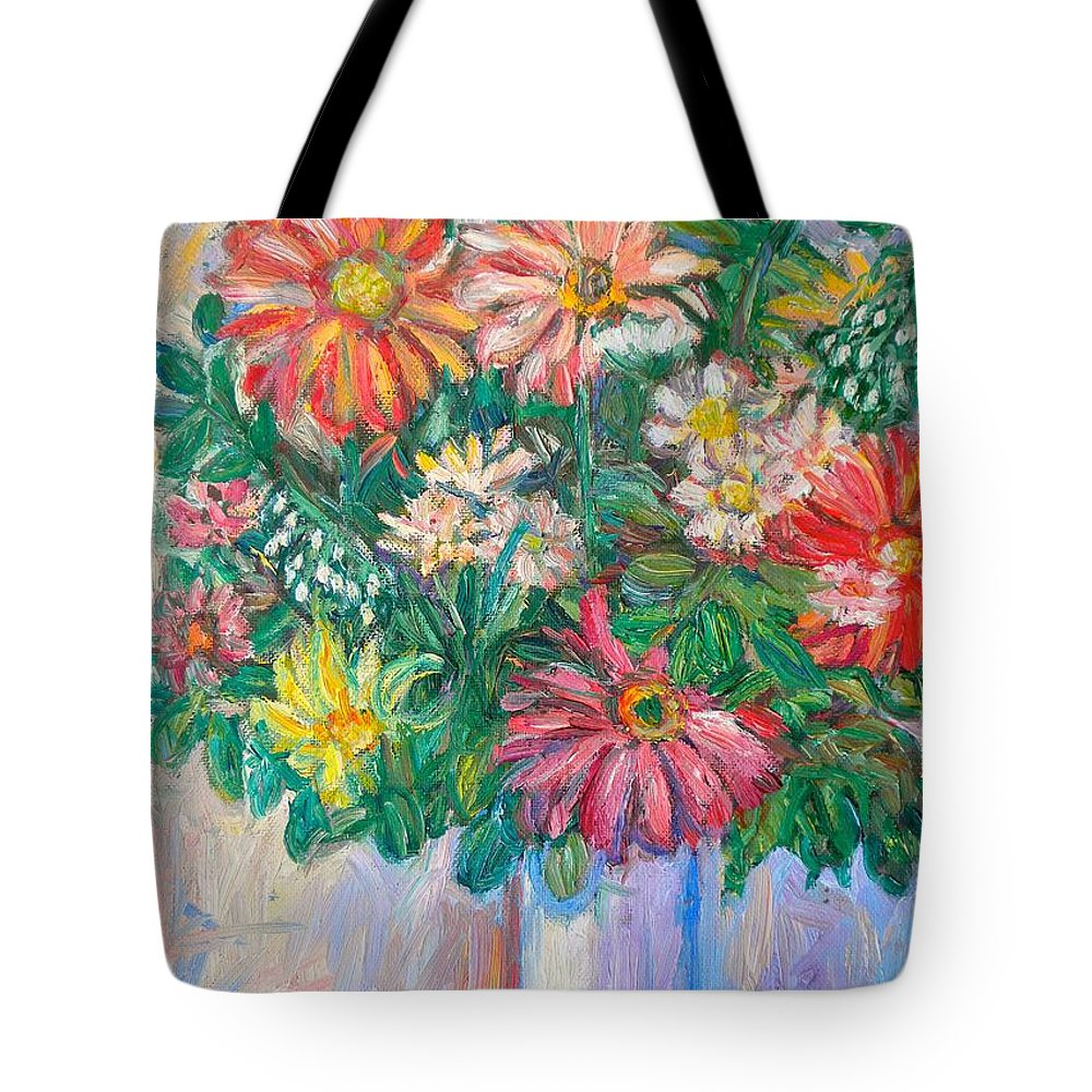 Still Life Tote Bag featuring the painting The White Vase by Kendall Kessler