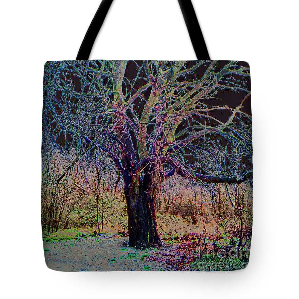 Tree Tote Bag featuring the photograph 10994 The Widow Tree by Colin Hunt