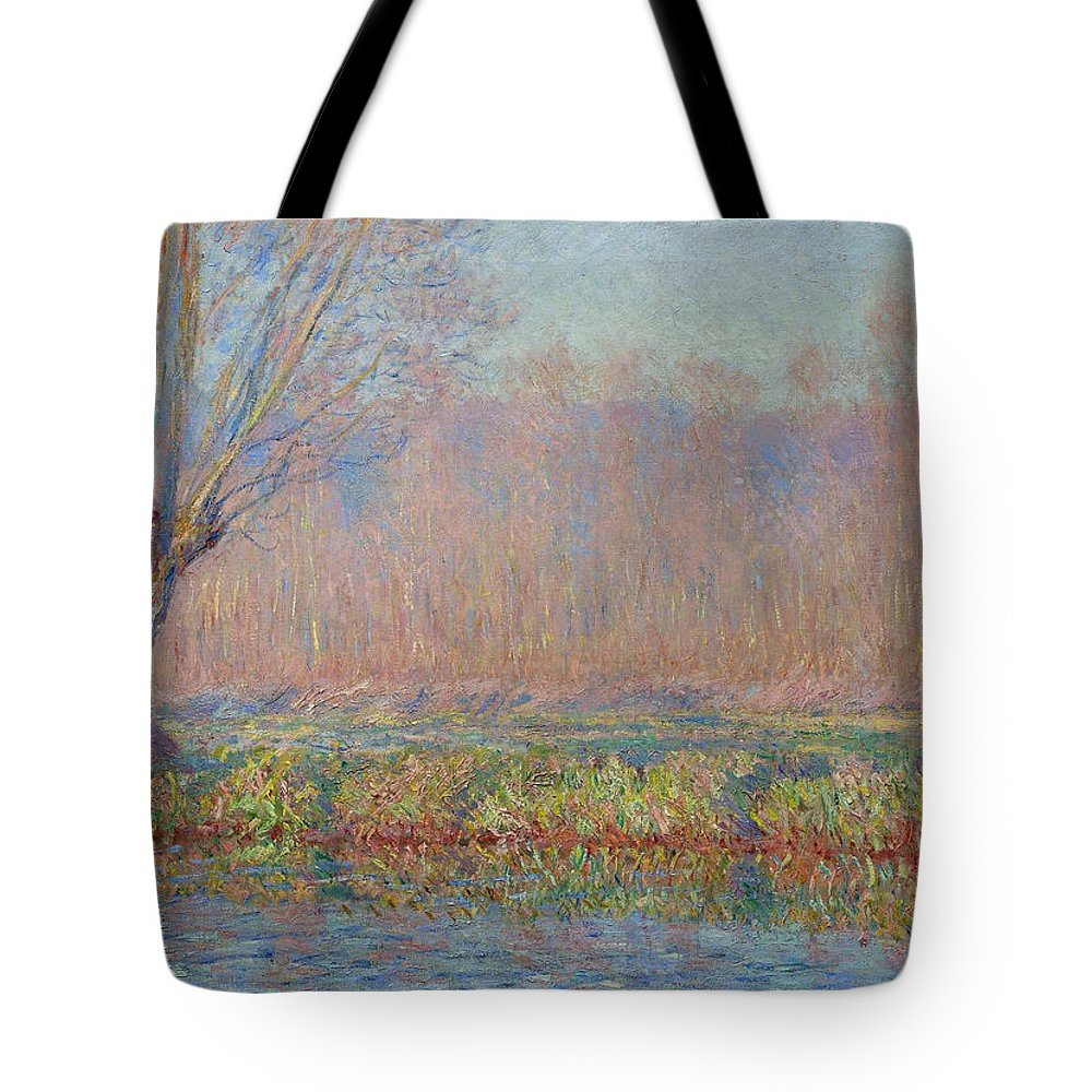 Claude Monet Tote Bag featuring the painting The Willow by Claude Monet