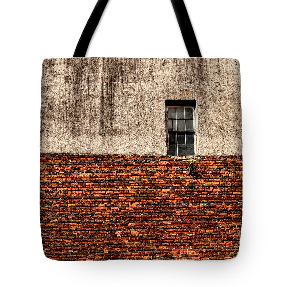 Window Tote Bag featuring the photograph The Window Above by Frances Hattier