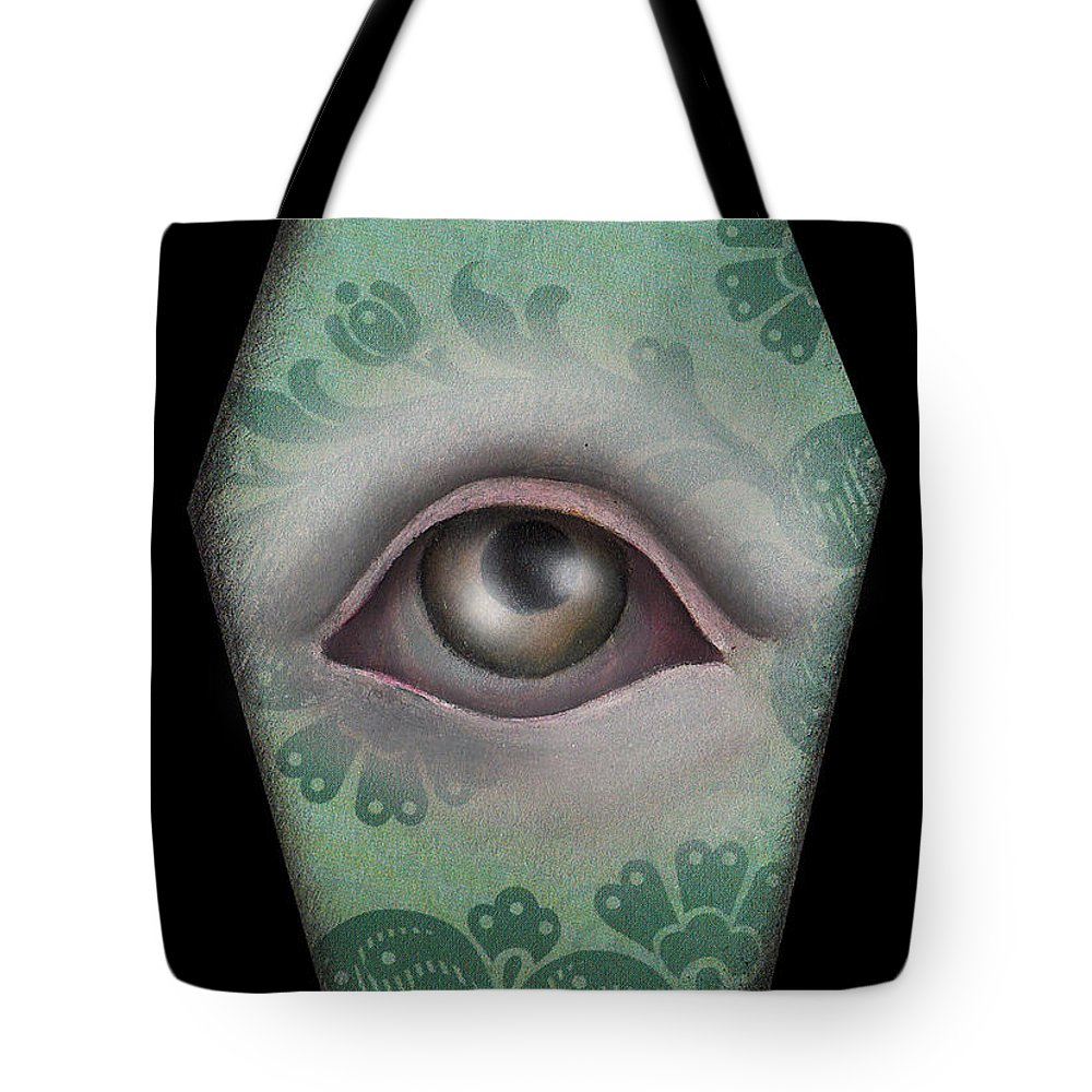 Eye Tote Bag featuring the painting The Window by Abril Andrade Griffith
