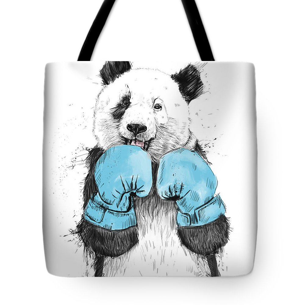 Panda Tote Bag featuring the digital art The Winner by Balazs Solti