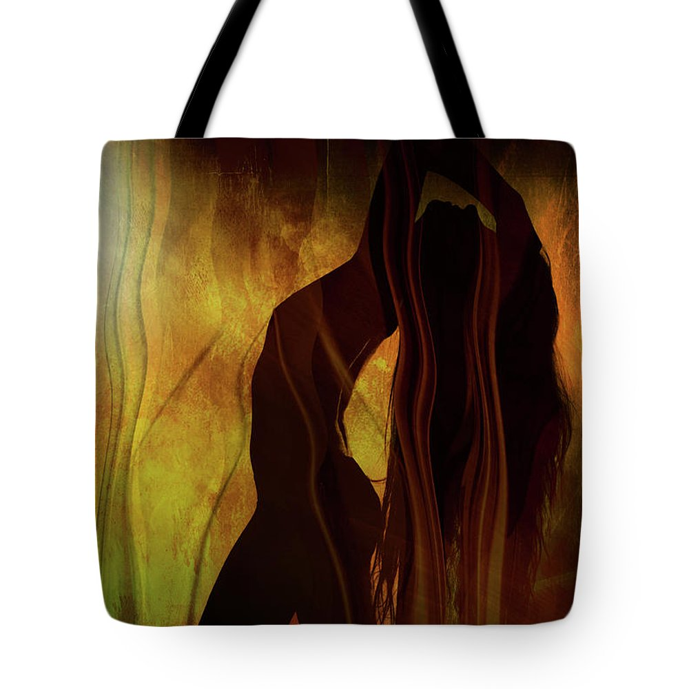 Festblues Tote Bag featuring the photograph The Witches Dance... by Nina Stavlund