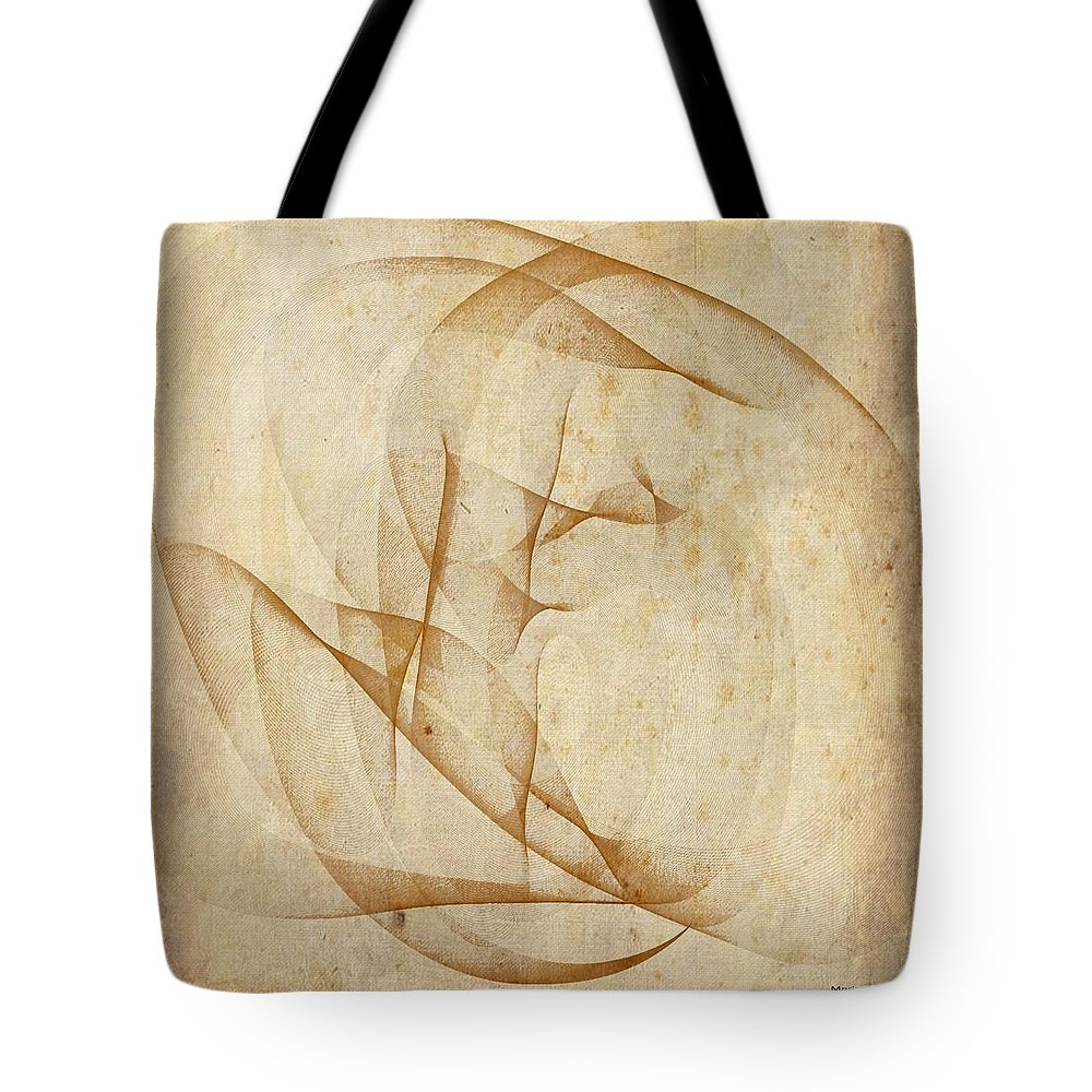 Womb Tote Bag featuring the mixed media The Womb by Marian Palucci-Lonzetta