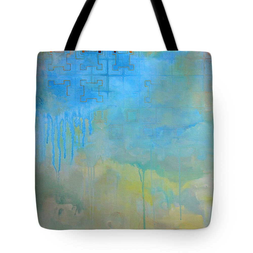 Fine Art Tote Bag featuring the painting The Women With The Wacky Woo by Sandra Cohen