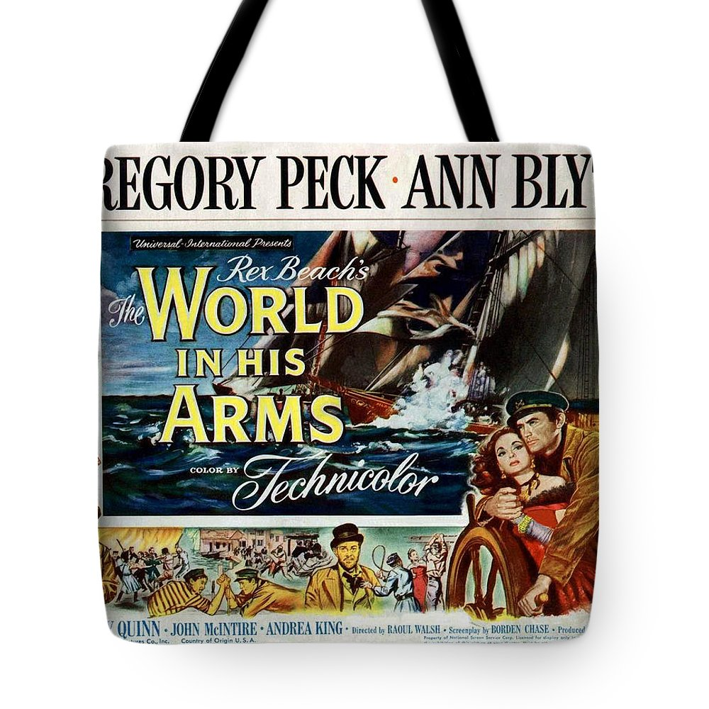 The World In His Arms Tote Bag featuring the photograph The World In His Arms 1952 by Mountain Dreams