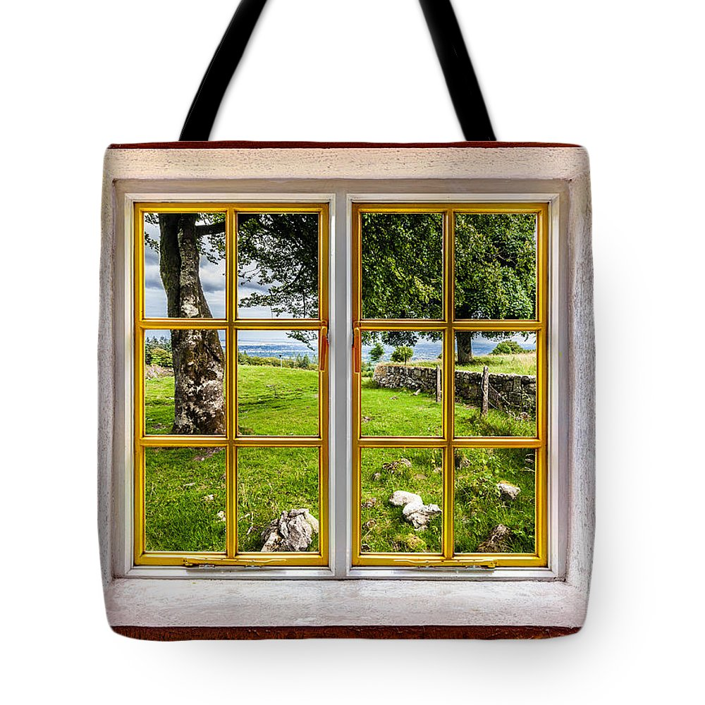 Architecture Tote Bag featuring the photograph The Yard by Semmick Photo