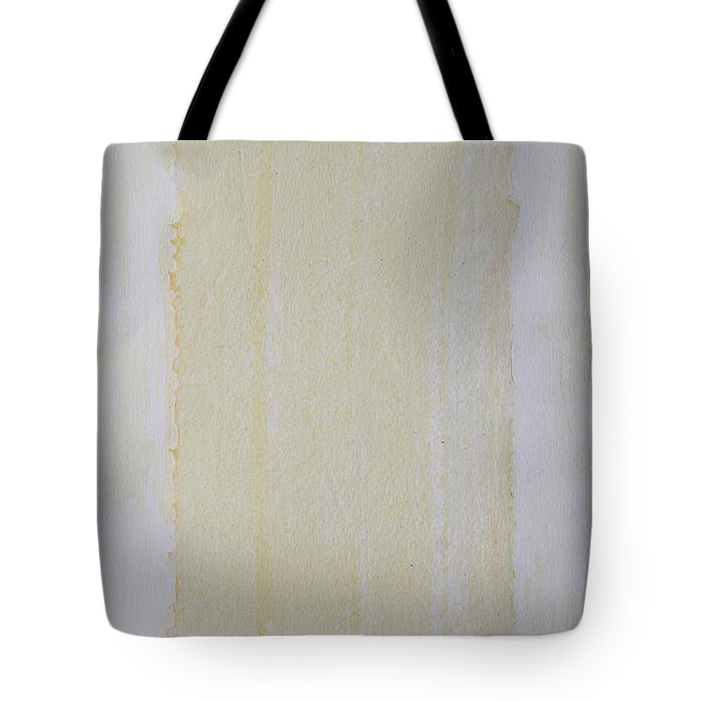 Mixed Media Collage Tote Bag featuring the painting The Yellow Way by Asha Carolyn Young