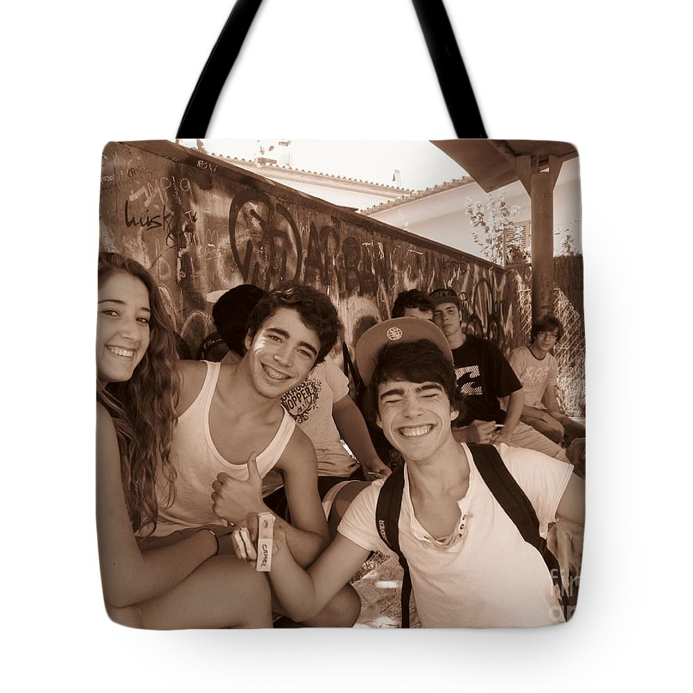 Youth Tote Bag featuring the photograph The Youth Of Esporles by Tina M Wenger