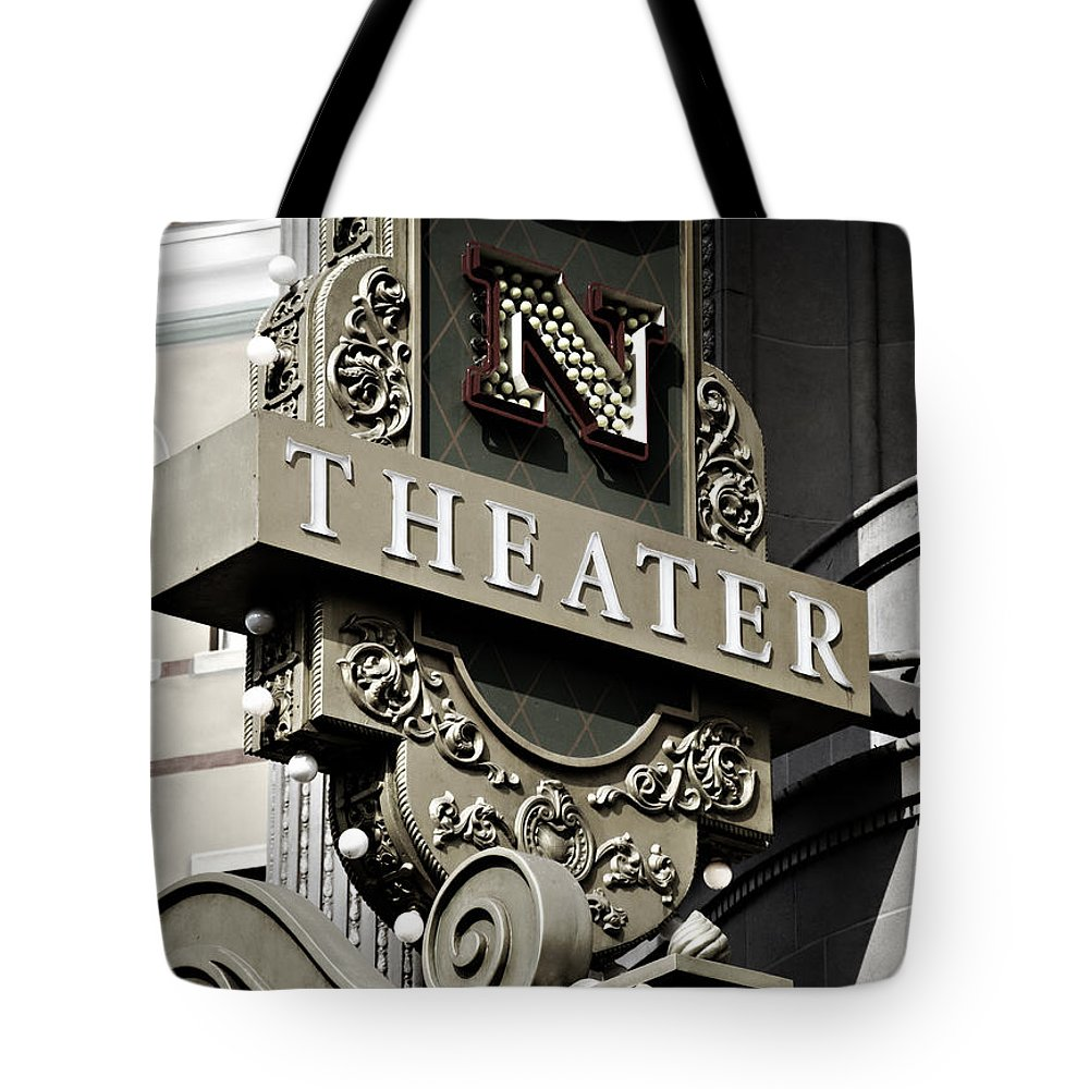 Theater Tote Bag featuring the photograph Theater by Ricky Barnard