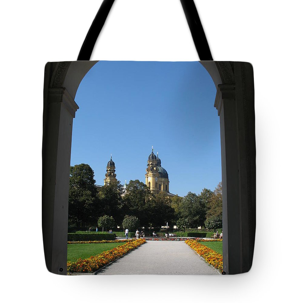 Church Tote Bag featuring the photograph Theatiner Church Munich by Christiane Schulze Art And Photography