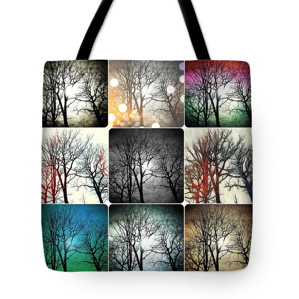Trees Tote Bag featuring the photograph Theme With Variation by Natasha Marco