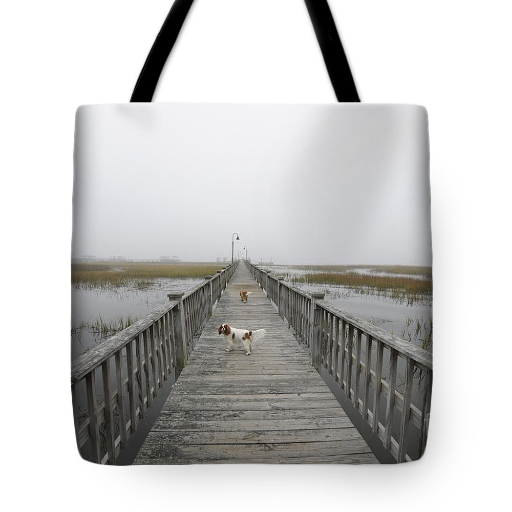 Fog Tote Bag featuring the photograph Thick As Peanut Butter by Dale Powell