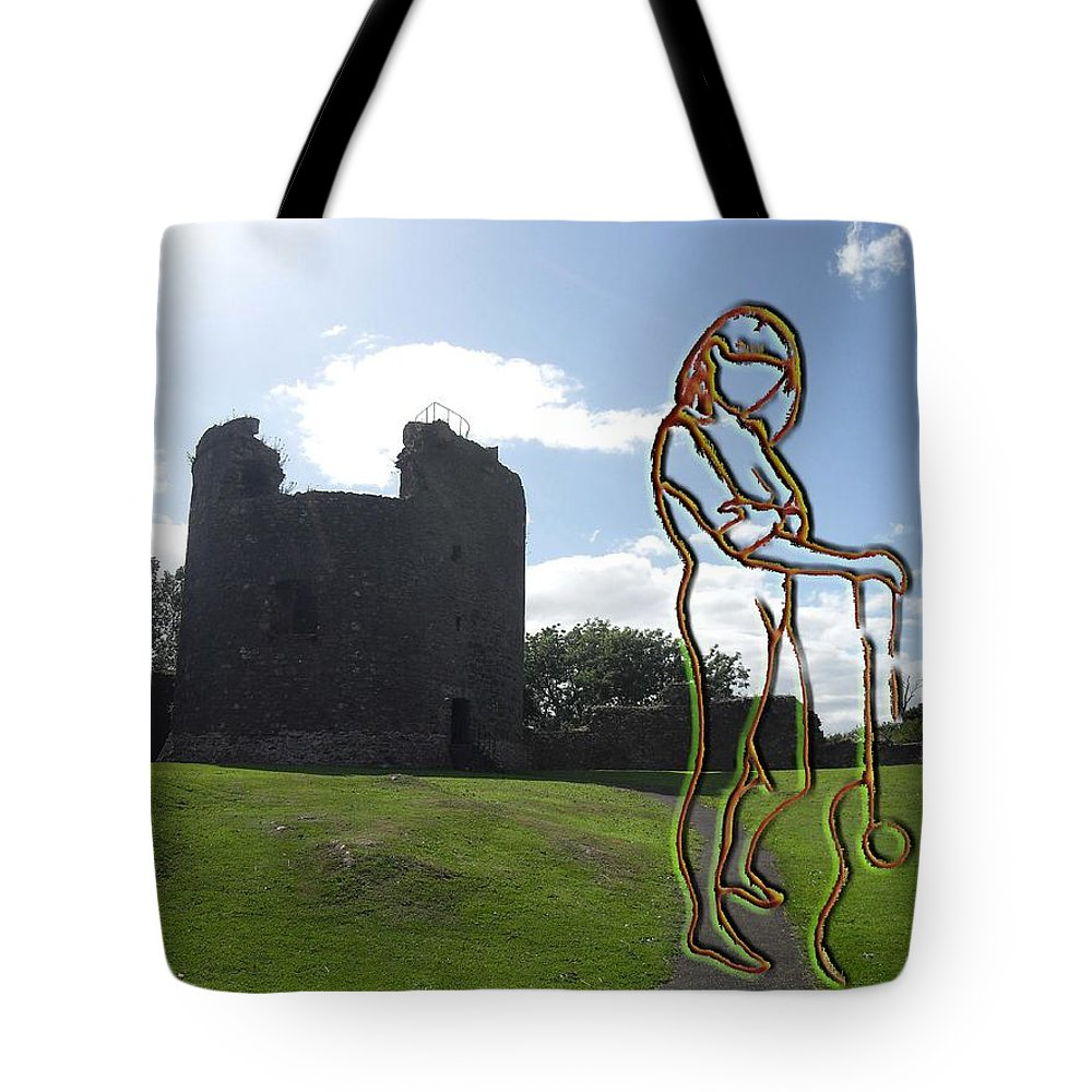 Music Tote Bag featuring the photograph Thinking About The Castle by Patrick J Murphy