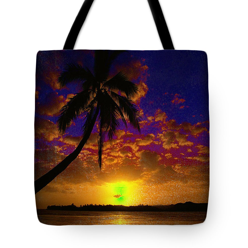 Digital Art Landscape Tote Bag featuring the digital art Thinking Of You by Yael VanGruber