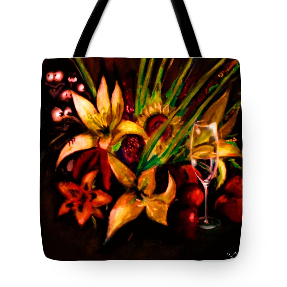 Fine Art Tote Bag featuring the painting Thirsty by Marcello Cicchini