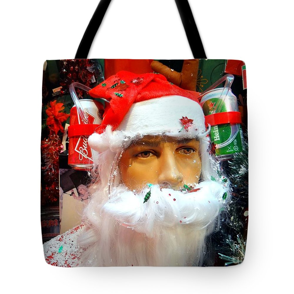 Santa Claus Tote Bag featuring the photograph Thirsty Santa by Ed Weidman