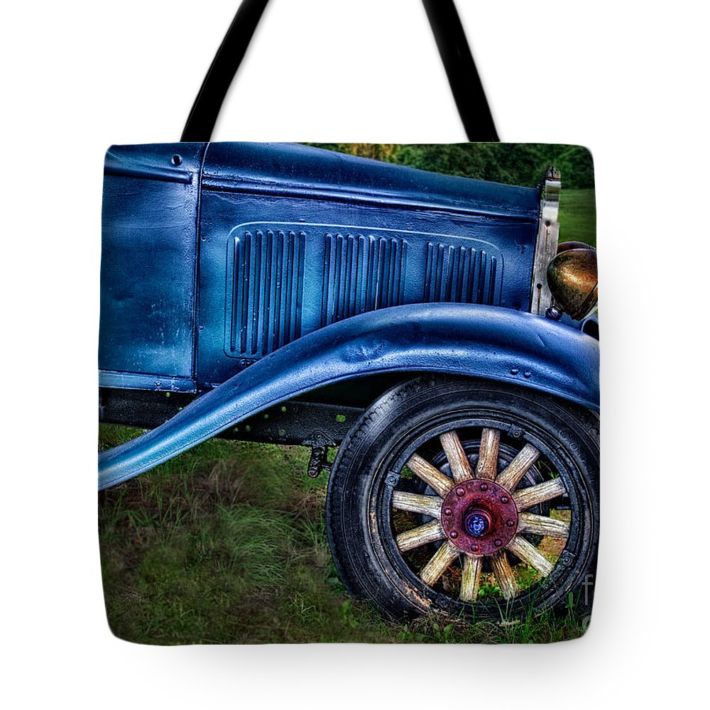 Old Tote Bag featuring the photograph This Old Car by Susan Candelario