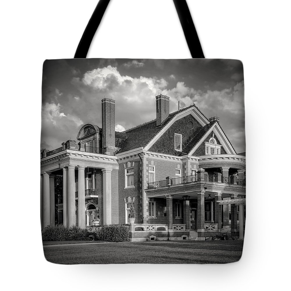 Joan Carroll Tote Bag featuring the photograph Thistle Hill Bw by Joan Carroll