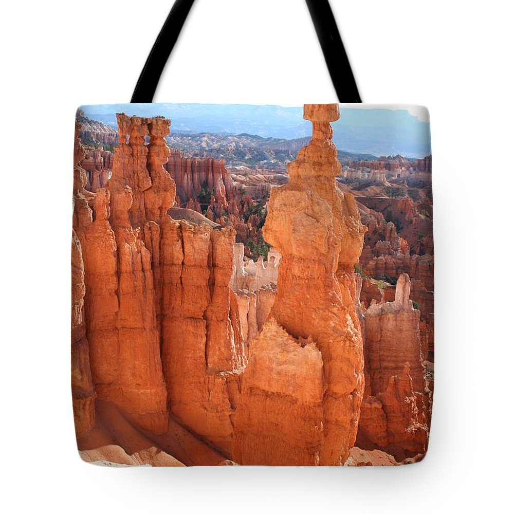 Canyon Tote Bag featuring the photograph Thors Hammer - Bryce Canyon by Christiane Schulze Art And Photography