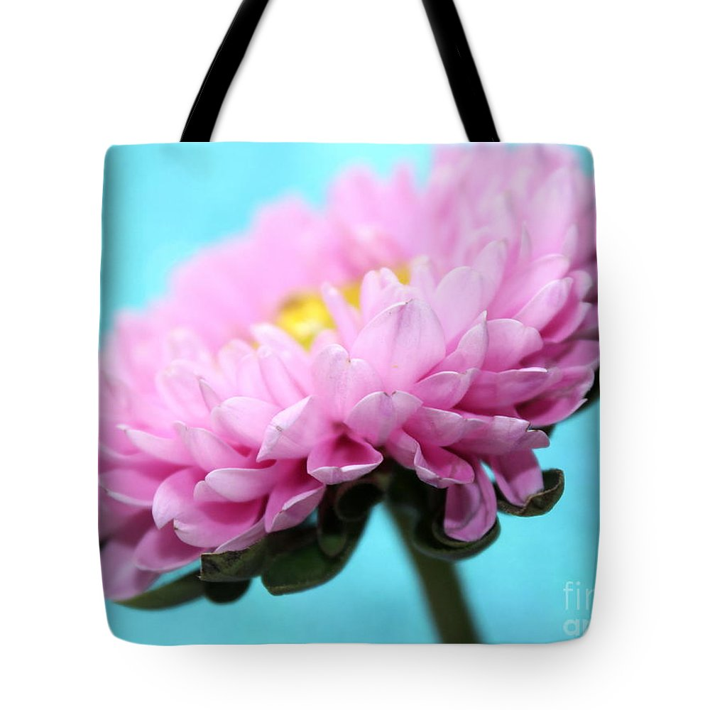 Pink Flower Tote Bag featuring the photograph Thoughts Of You by Krissy Katsimbras