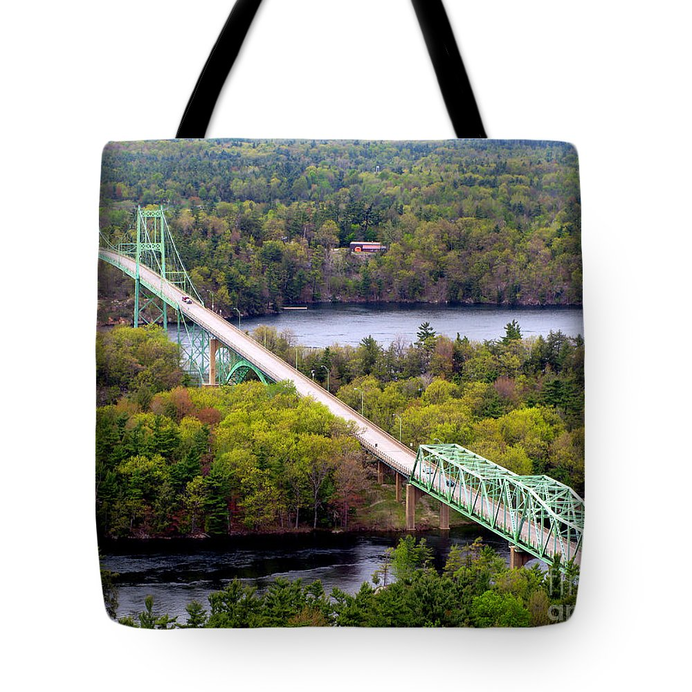 Thousand Island Tote Bag featuring the photograph Thousand Islands International Bridge by Olivier Le Queinec