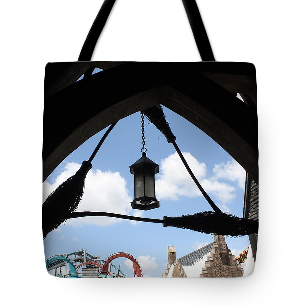 Orlando Tote Bag featuring the photograph Three Broomsticks by David Nicholls