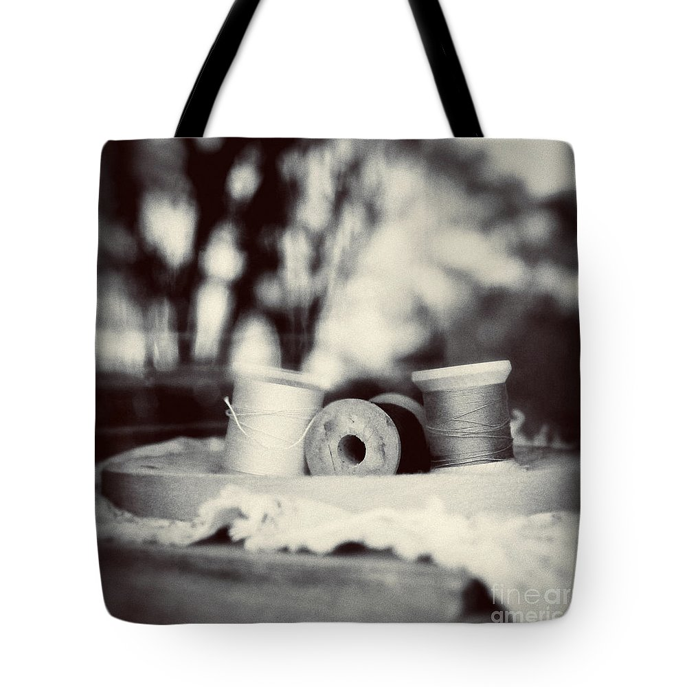 Sewing Tote Bag featuring the photograph Threads Of Life by Trish Mistric