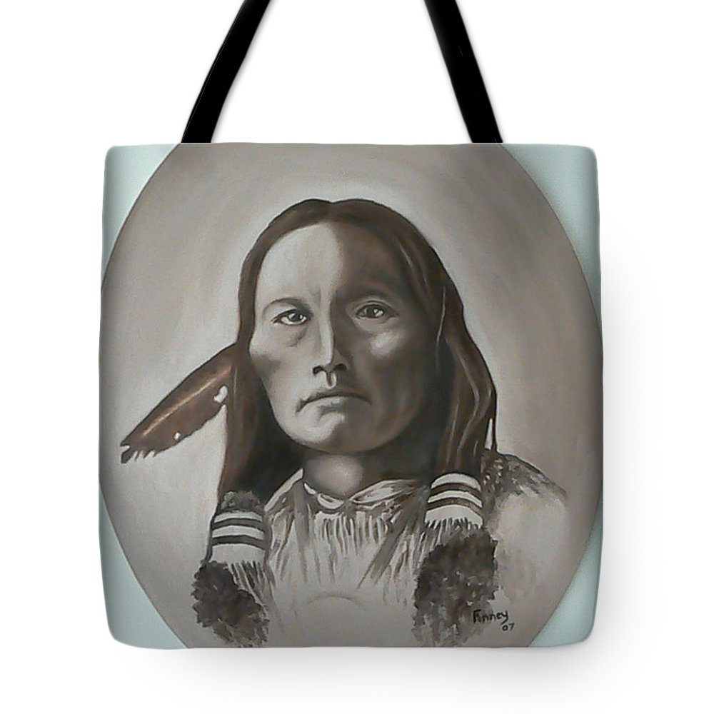 Michael Tote Bag featuring the painting Three Fingers by Michael TMAD Finney
