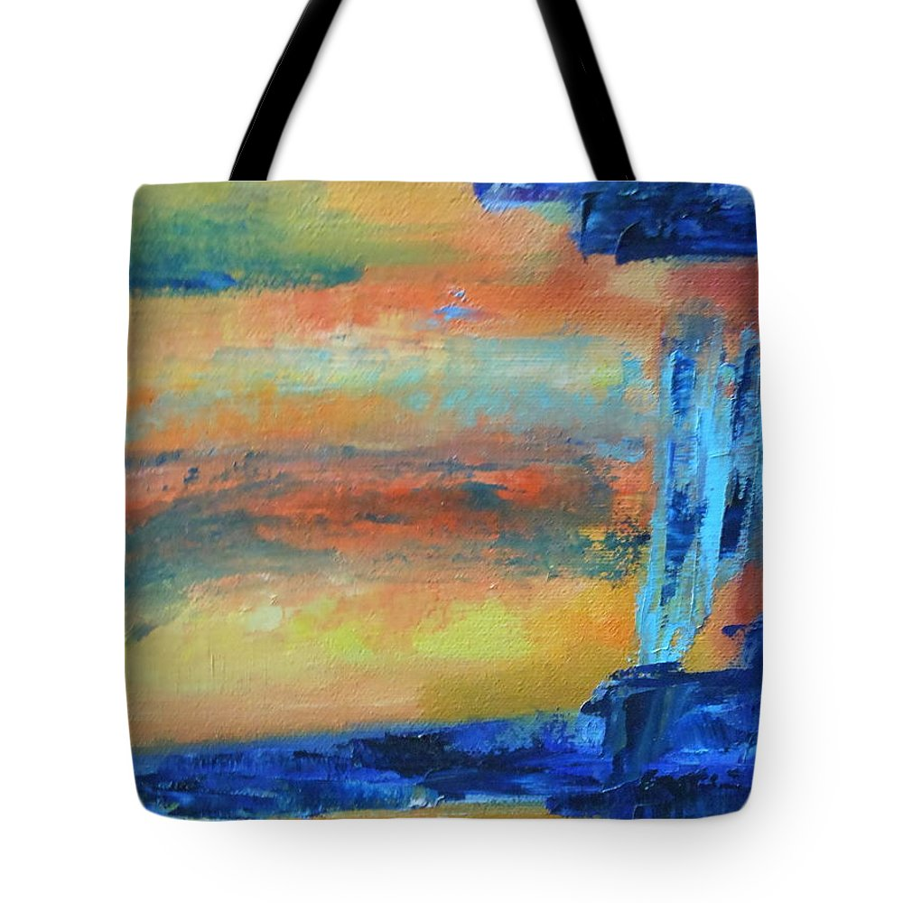 Abstract Tote Bag featuring the painting Three by Lord Frederick Lyle Morris - Disabled Veteran