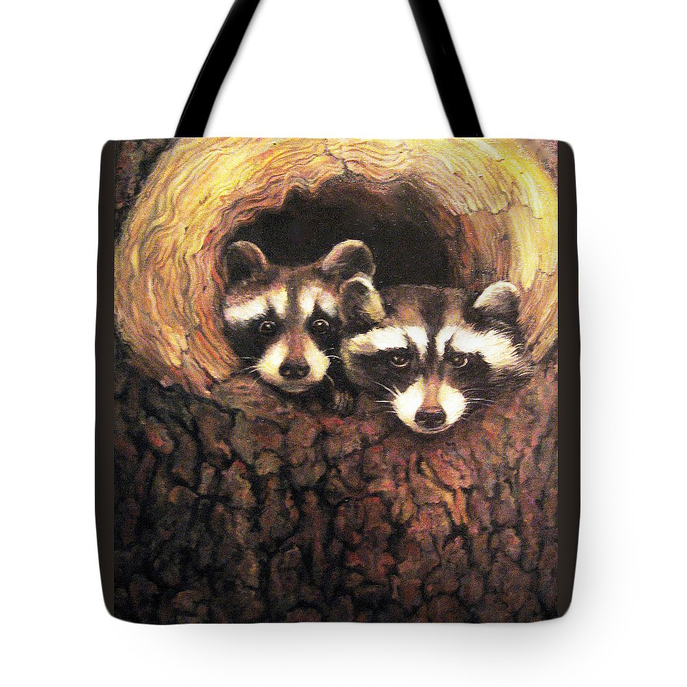 Nature Tote Bag featuring the painting Three Is A Crowd by Donna Tucker