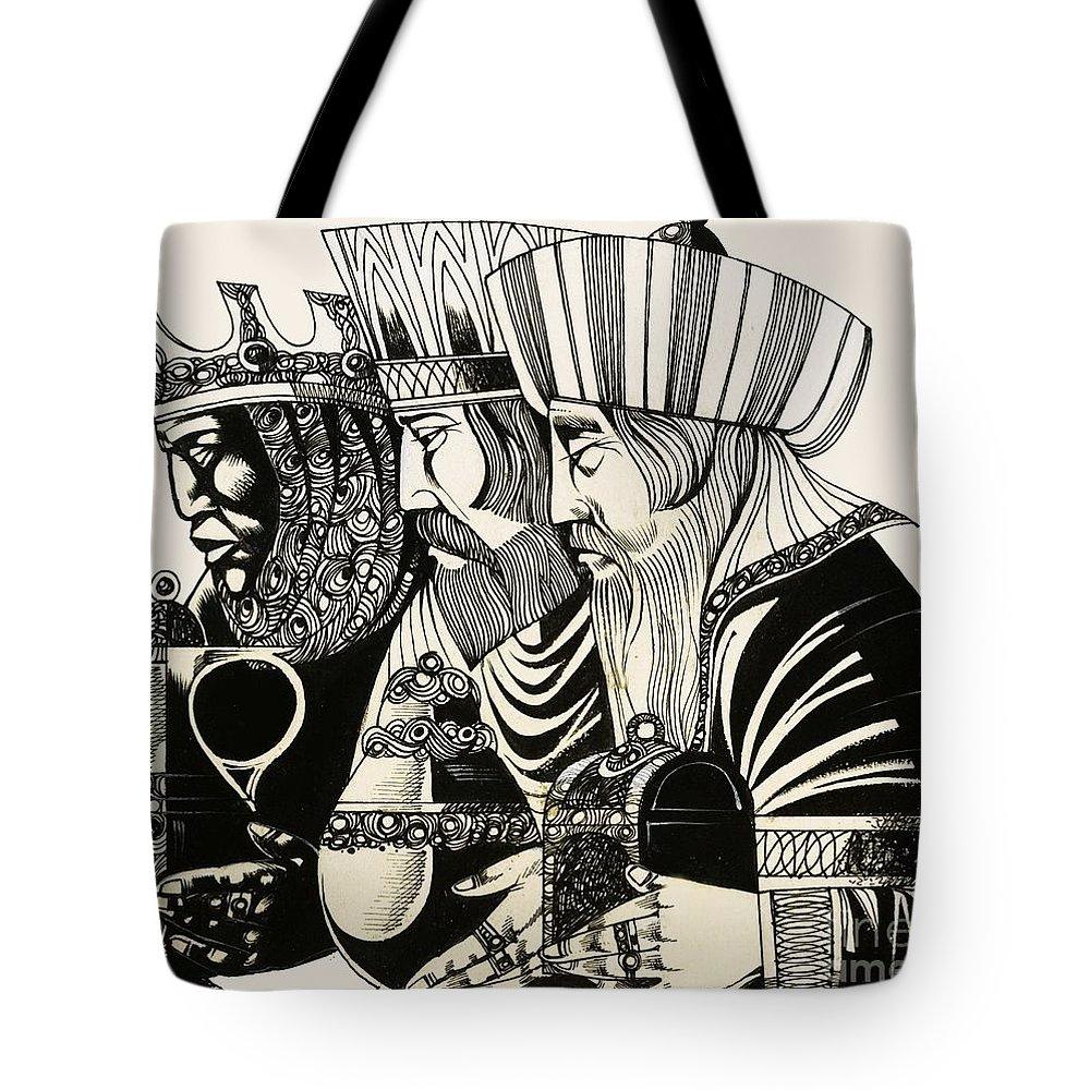 Man Drawings Tote Bags