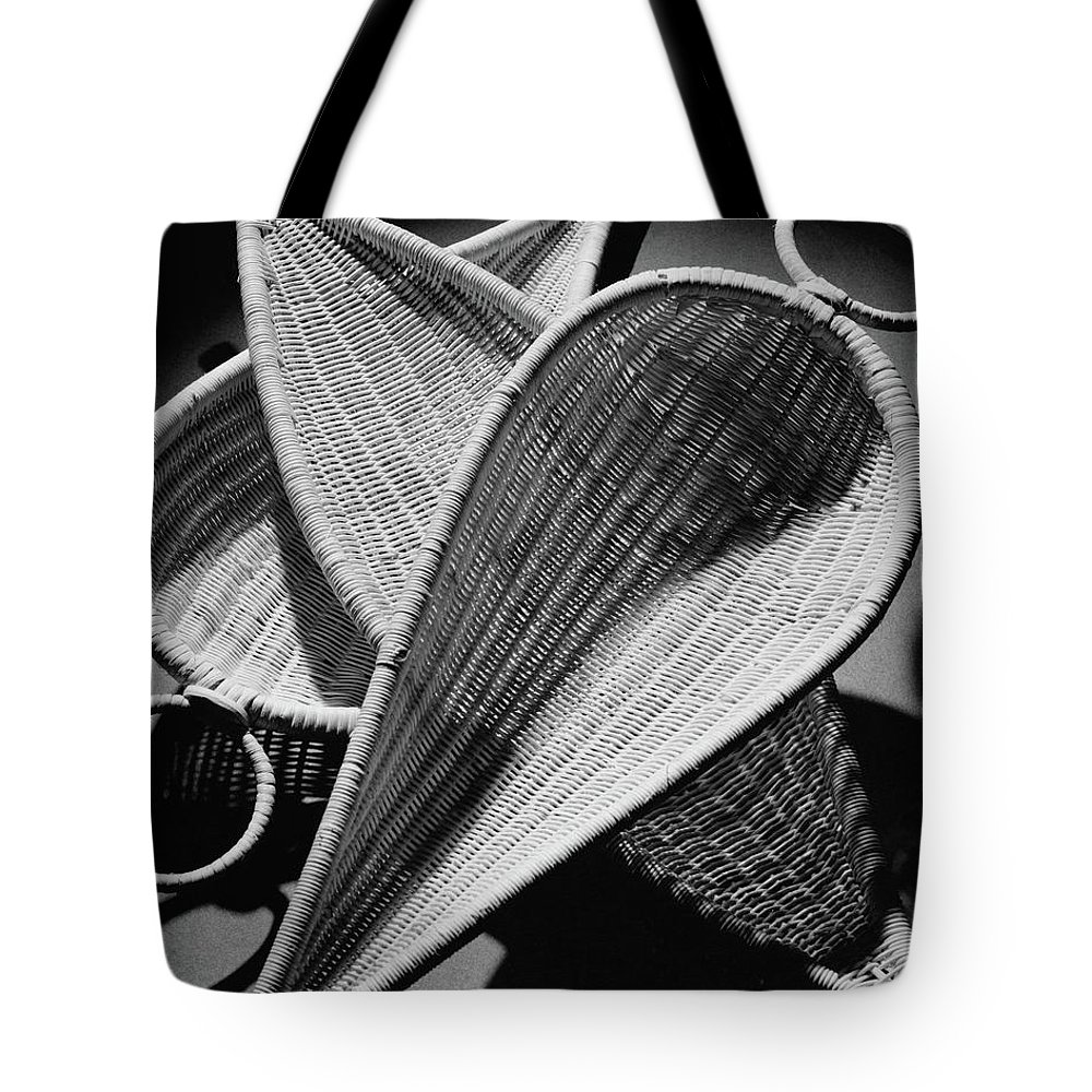 Indoors Tote Bag featuring the photograph Three Reed Baskets by Martin Bruehl